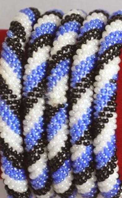 Hand Made Glass Bead Bracelets
