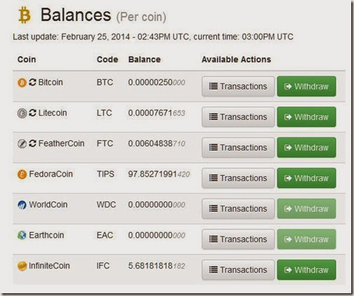 multi-coin faucet with wallet-like features giving different free coins