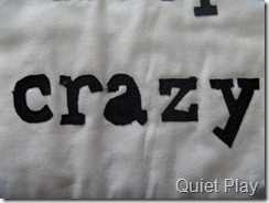 Crazy applique