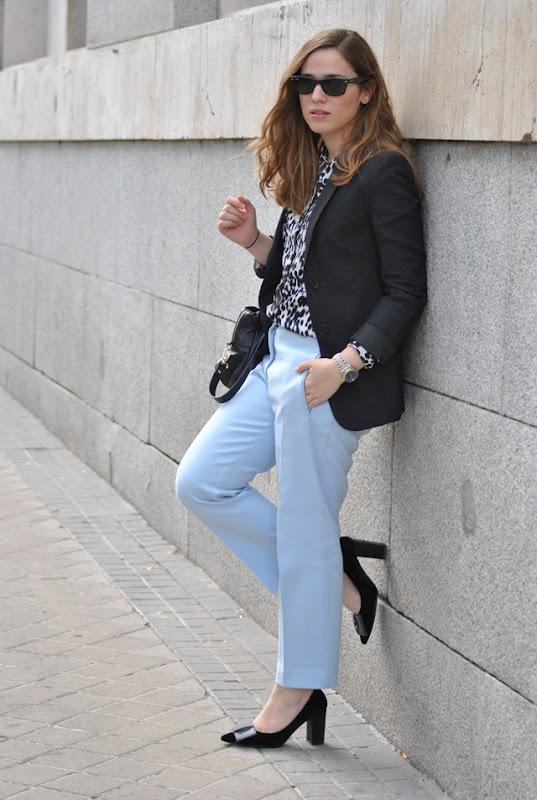 Blue Pants + Print