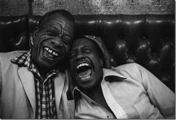 James Baldwin et son frère David, St Germain des Prés – 1981 © Jane Evelyn Atwood
