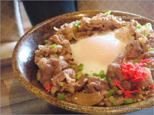 Watami: Beef Rice Bowl with Hot Spring Egg in Tokyo Style