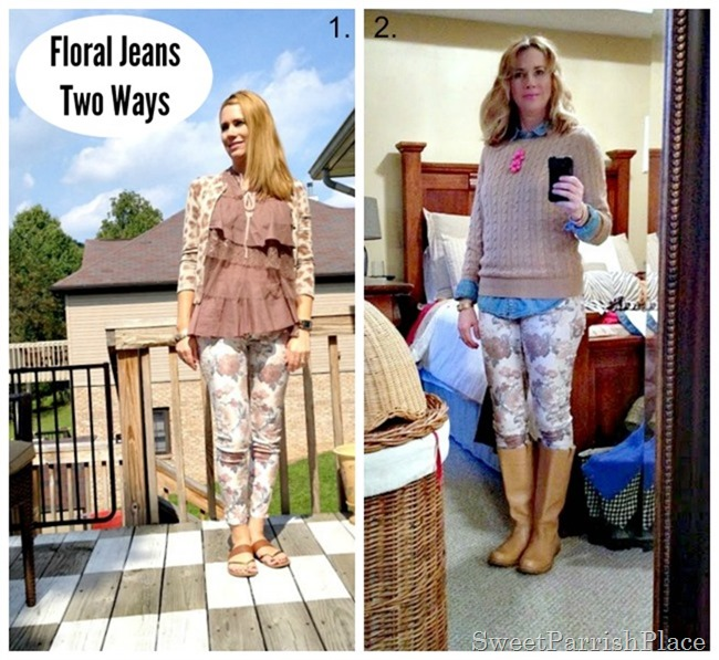 Floral Jeans two ways