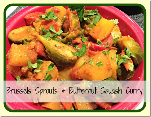 sprouts & squash curry