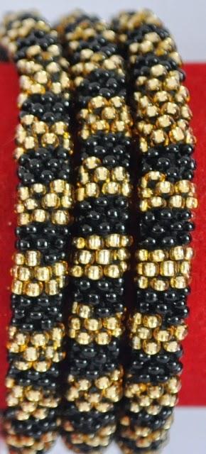 Glass Bead Rollover Bangles