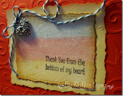Inky Impressions - Thank You Rubber Stamp Sentiment - Tutorial - Ruthie Lopez. 3
