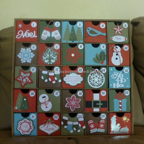 Christmas Countdown Calendar designed by Lalia Harris