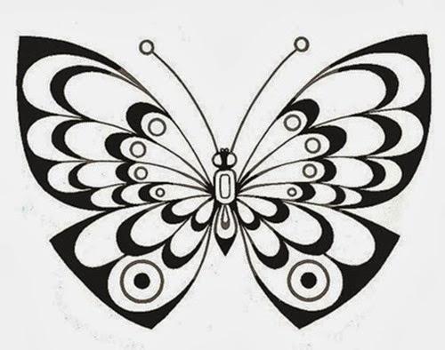borboleta para bordado