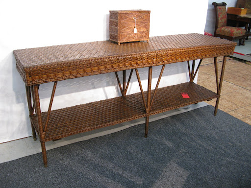 This is a beautifully constructed and extra long console that caught Martha's eye.