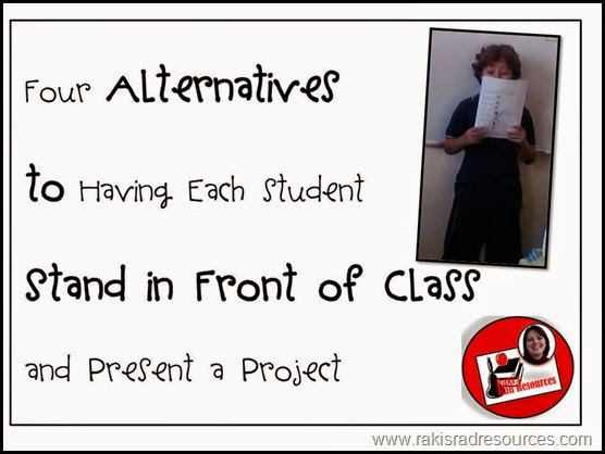 Four alternatives to presenting in front of class - great for esl students - ideas from Raki's Rad Resources