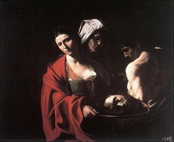 Caravage, salomé avec la tête de St Jean-Baptiste