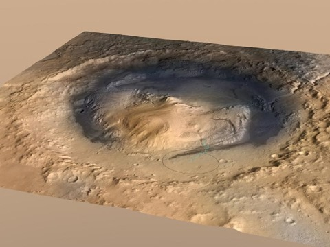 Mount Sharp, inside Gale Crater on Mars