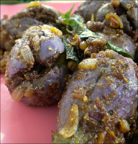 how to make brinjal curry in andhra style