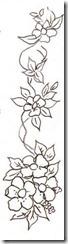 risco flor pintura em tecido 7