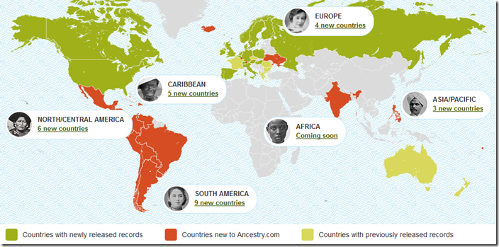 Ancestry.com releases new international collections