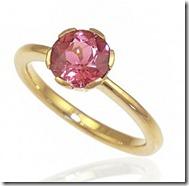 Tourmaline Flower Engagement Ring
