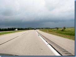 4868 Michigan - near Kinross, MI - I-75 - stormy skies