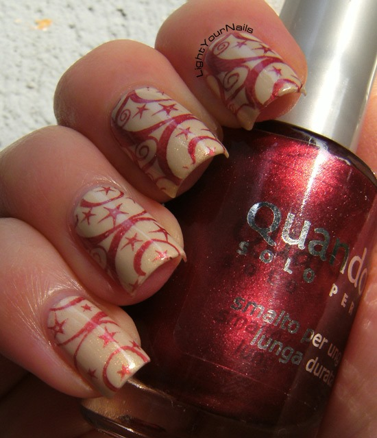 Red and gold stamping with BP-03 plate from BornPrettyStore