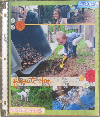 Project Life- Week 12 insert