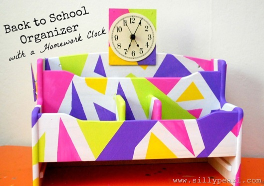 Back to School Organizer with a Homework Clock by The Silly Pearl