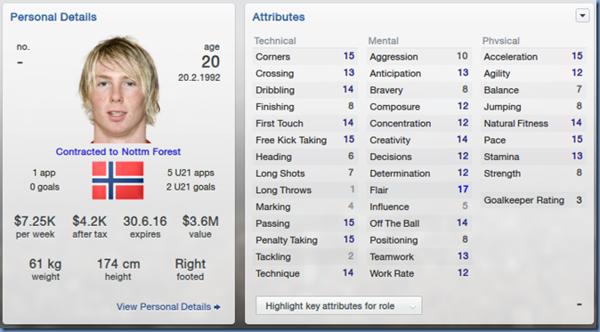 Thomas Drage in Football Manager 2013