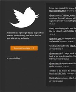 9 plugins en jQuery para manipular el API de Twitter