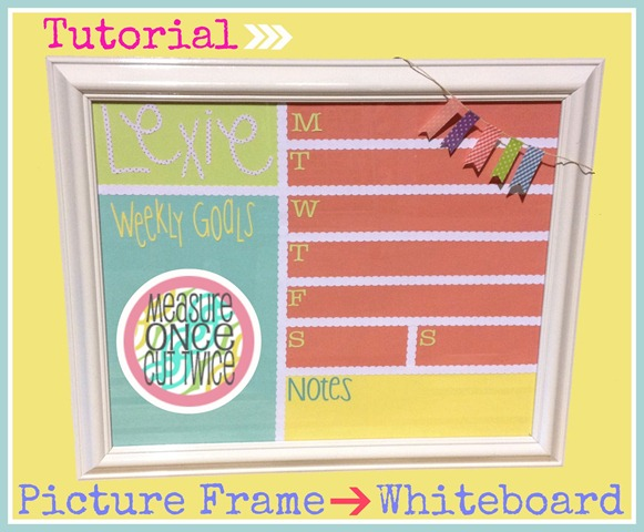 picture frame into white board
