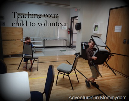 Teaching your child to volunteer