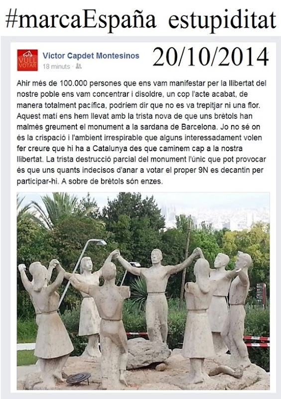 manifestacion del nacionalisme espanhòl
