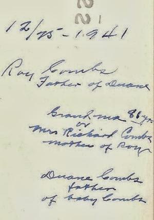 4 Generations Combs dec 25 1941 DL Antiques back