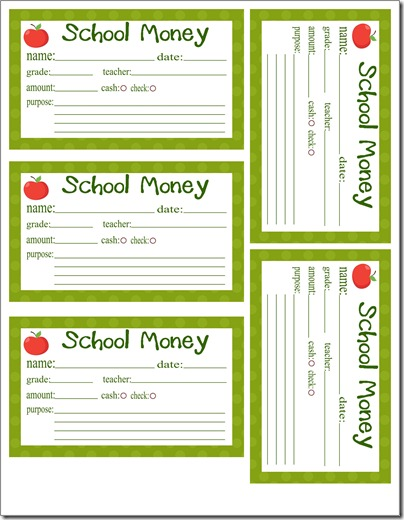 School Money Full Page