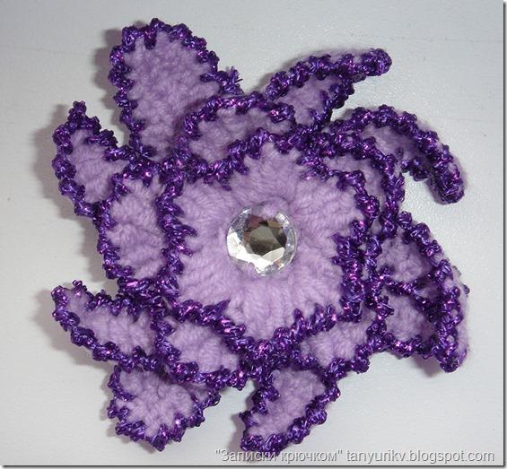 вязание цветов крючком, вязаные украшения, декор крючком