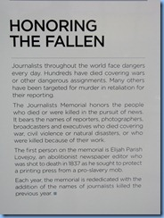 1546 Washington, D.C. - Newseum - Journalists Memorial