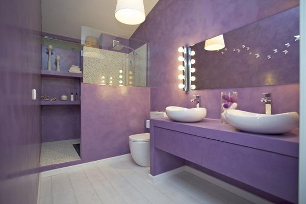 Diseño-de-interiores-en-baño-color-violeta