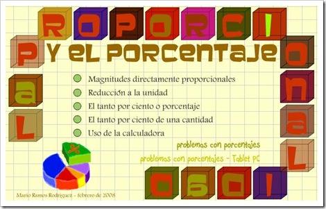 La proporcionalidad y el porcentaje