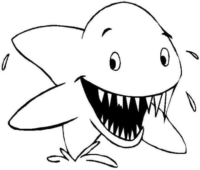 dibujos para colorear tiburones