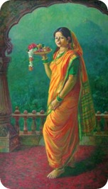 Towards-the-Temple-Yellow-Sari-Painting-by-Vijay-Kadam