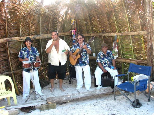 Singing Group Behind Campers