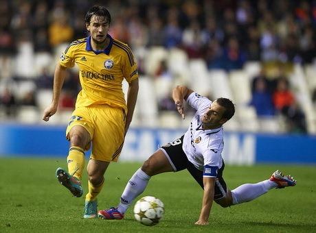 Hasil Valencia vs BATE Borisov, Liga Champions Kamis 8 November 2012