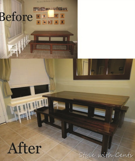 How To Refinish A Kitchen Table Before After