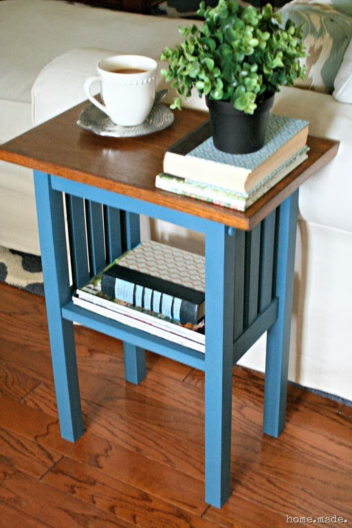 Mission Style End Table Makeover