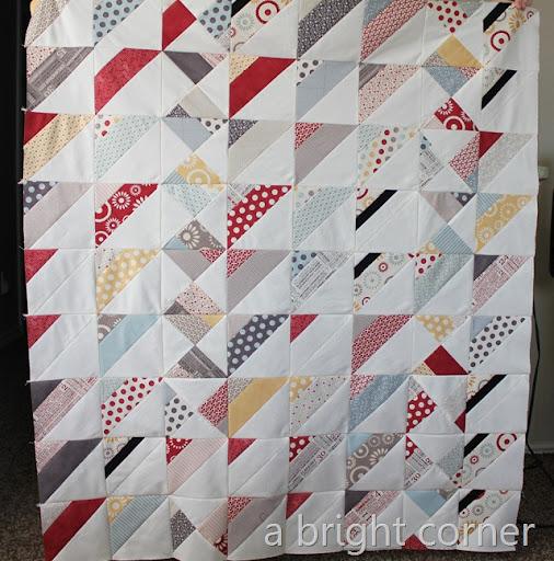 Strip quilt triangles