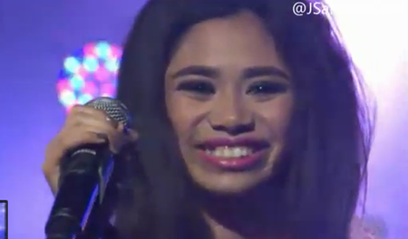 Jessica Sanchez singing Fairytale