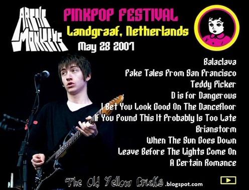 Pinkpop2007ArcticMonkeys