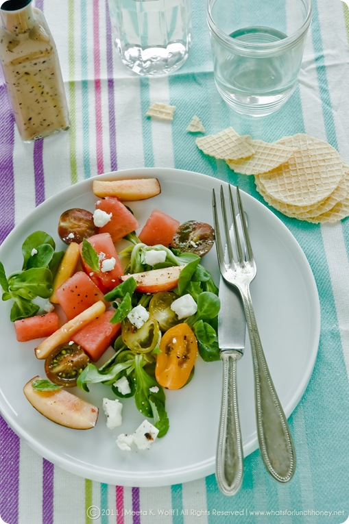 Watermelon Peach Feta Salad (0007) by Meeta K. Wolff