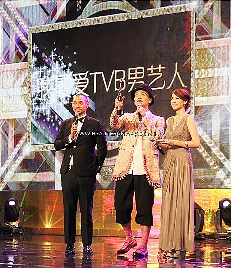 TVB AWARDS Starhub 2013 Bosco Wong winner My Favourite TVB Actor Male TV Character Favourite On Screen Couple award Niki Chow in A Change of Heart Michael Miu In Singapore Marina Bay Sands