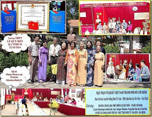 Ban Trí Vân MTKU Saigon-GiaĐịnh trao tặng bộ sách NSTTSaigòn GiaĐịnh ĐHCDT HCHHAHLLVTND cho Trường THPT LÊ QUÝ ĐÔN TPHCM tốt (2)