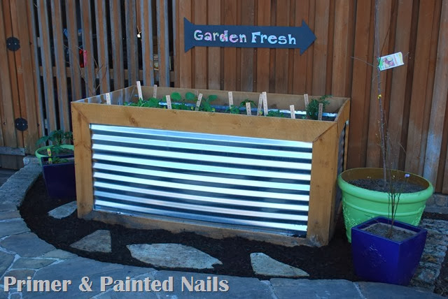 Finished Garden & Planter - Primer & Painted Nails