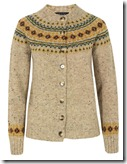 Howlin' by Morrison Blond Fair Isle Cardigan