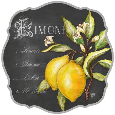lemon black-Chalk-plate
